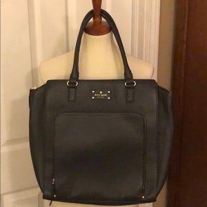 Gray leather Kate Spade bag.